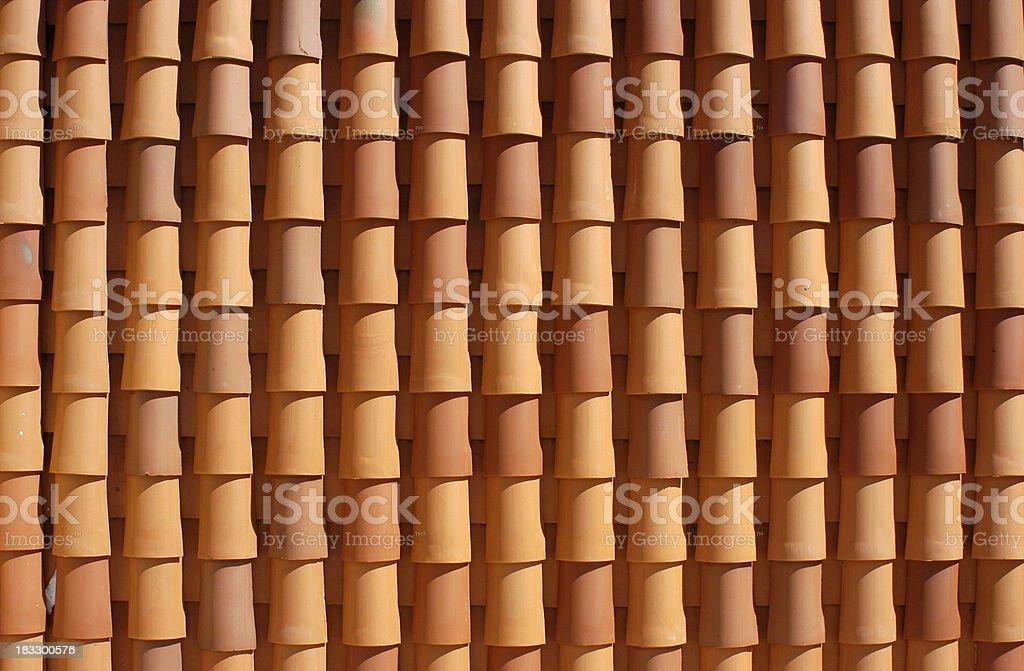European Terracotta Roof royalty-free stock photo
