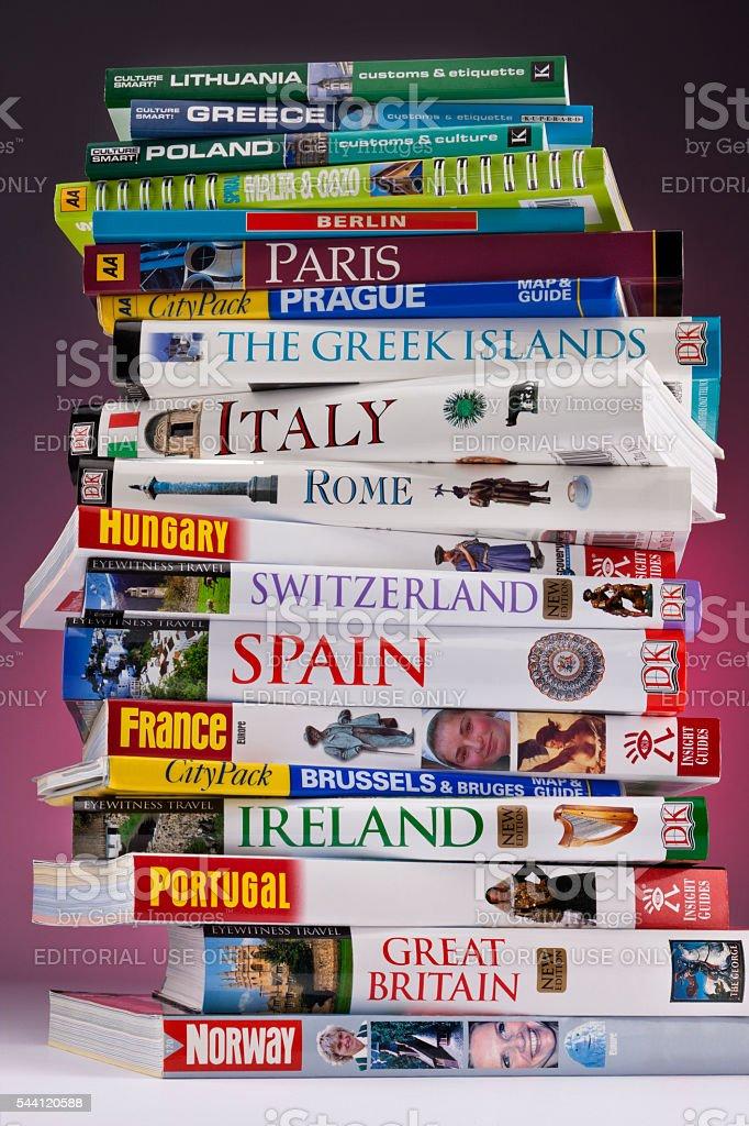 European Travel Guides stock photo