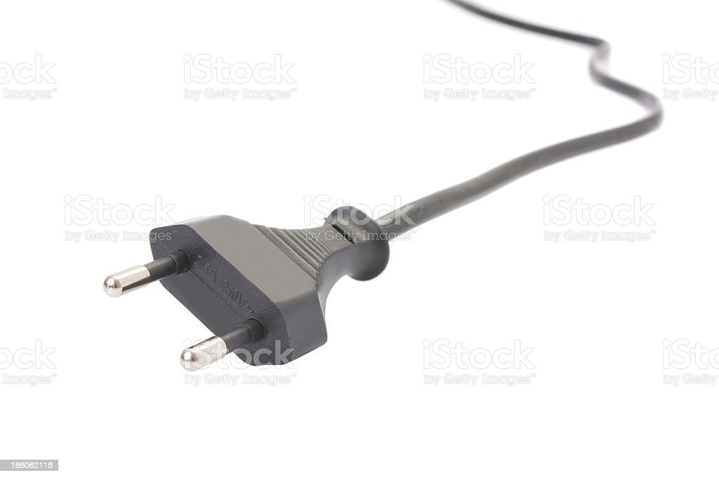 European two pin power plug royalty-free stock photo