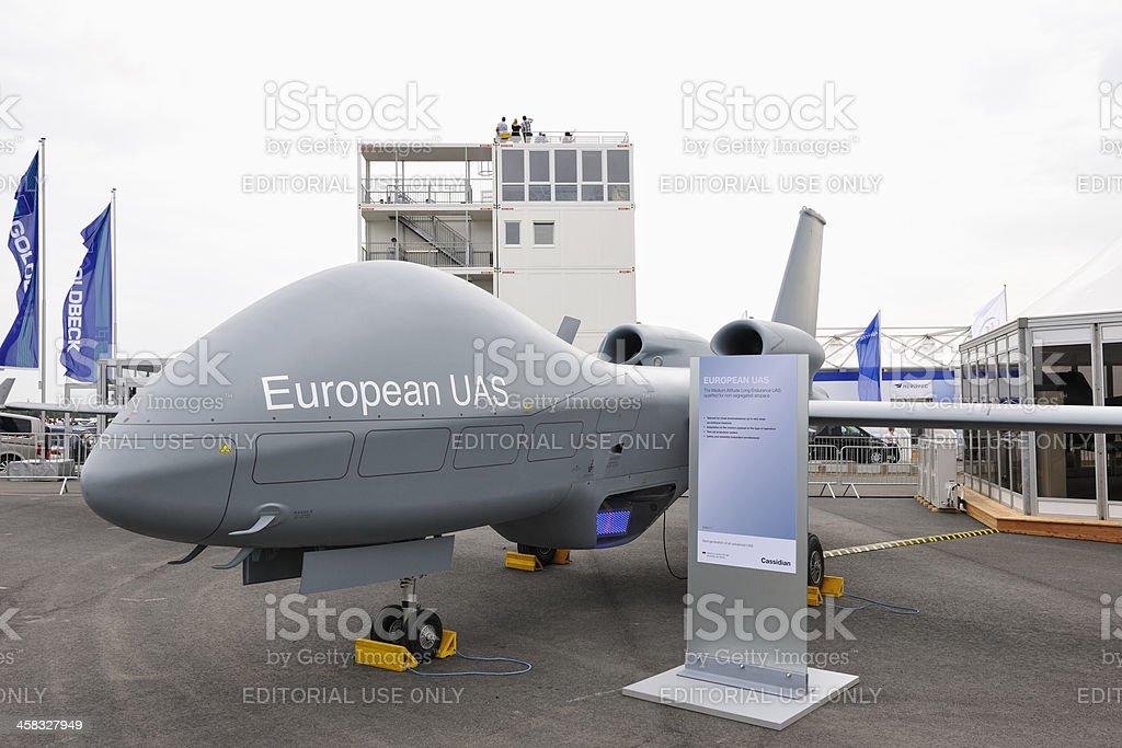 European UAS on Display ILA Berlin Air Show 2012 stock photo