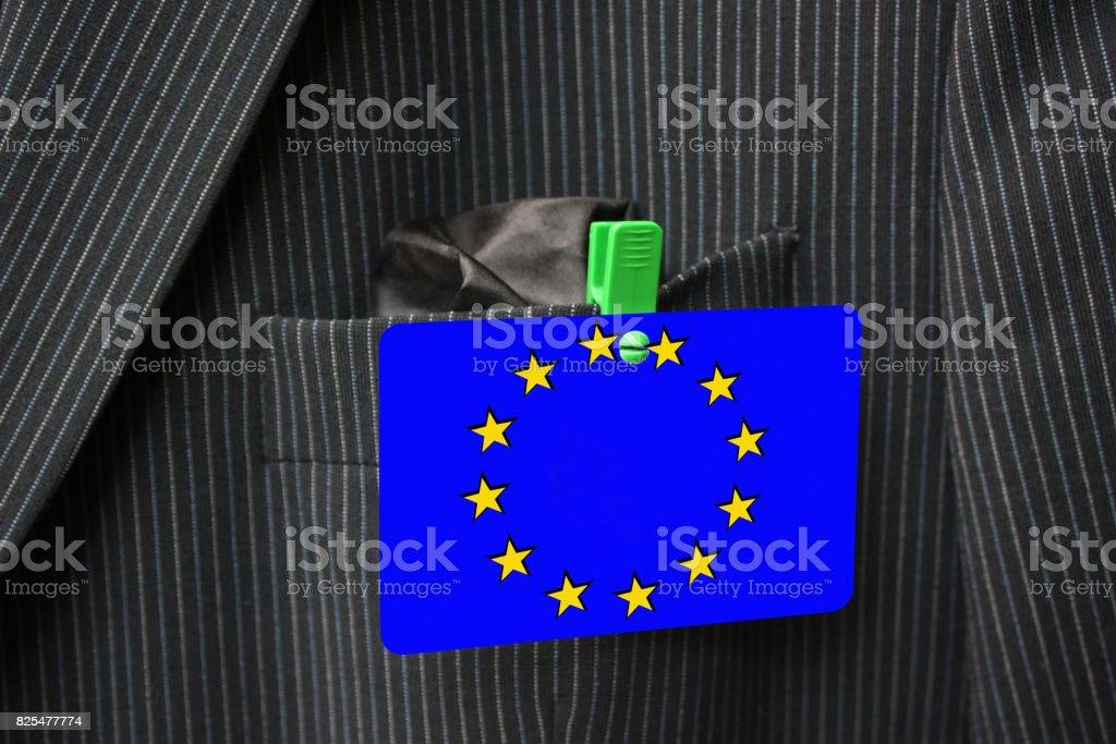 European Union  Access badge stock photo