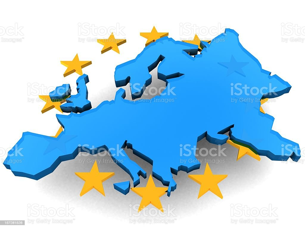 European Union and Stars royalty-free stock photo