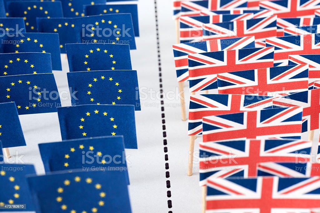 European Union and UK separation stock photo