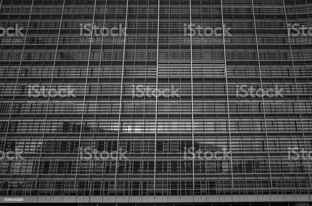 european union commision building at brussel belgium stock photo