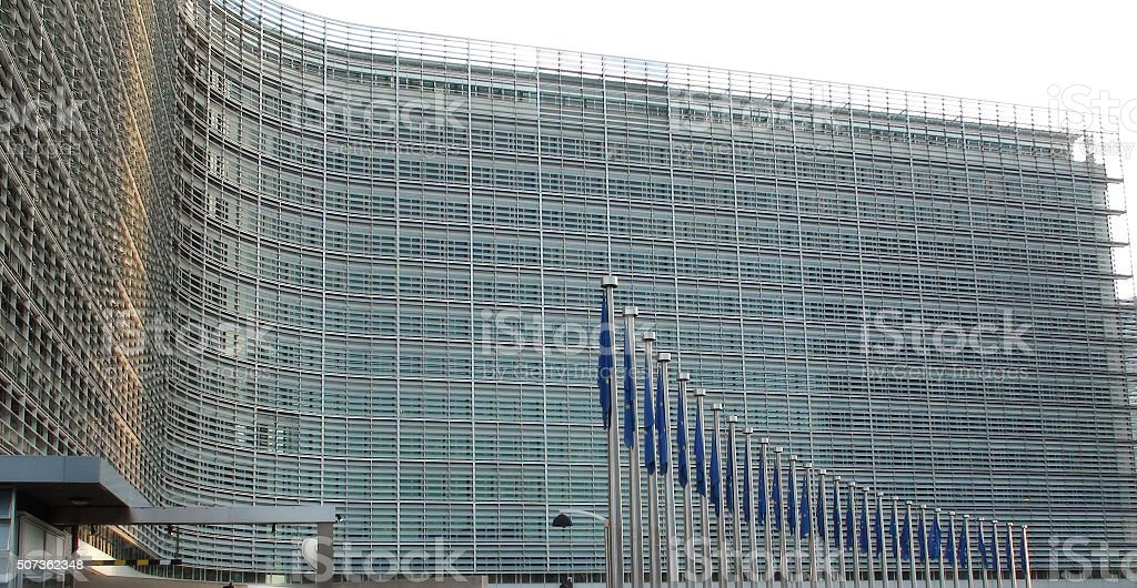 European Union Commision Building At Brussels Belgium stock photo