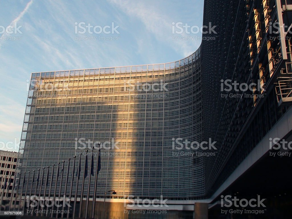 European Union Commision Building Situated At Brussels Belgium.Europe stock photo