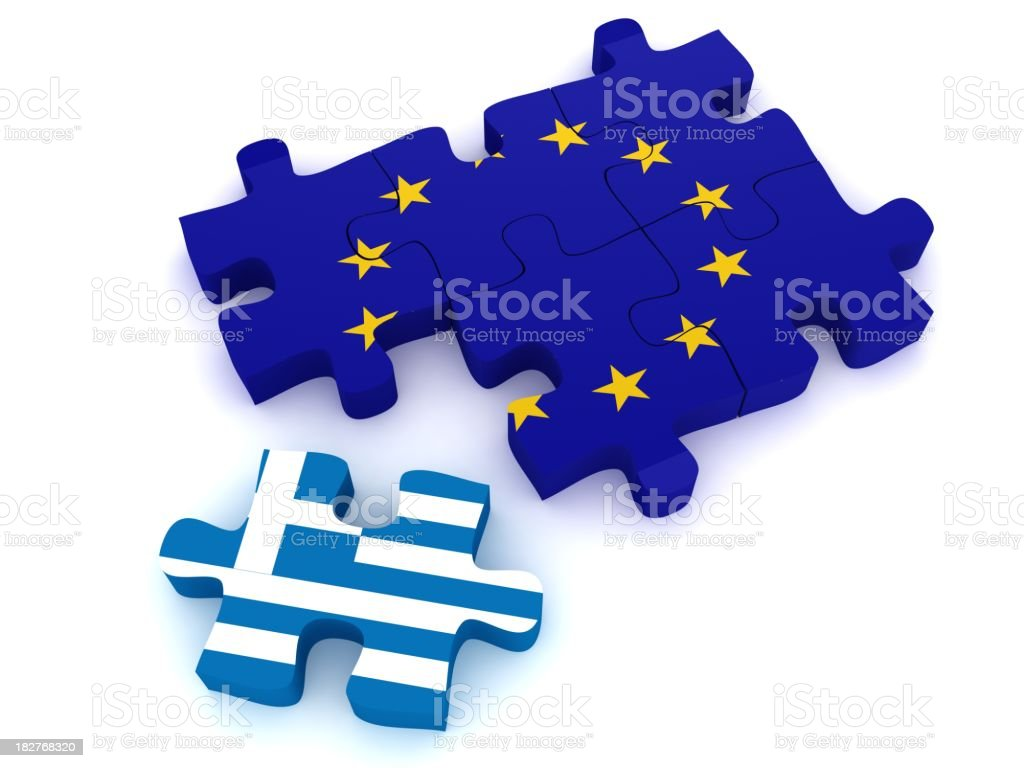 European Union Crisis royalty-free stock photo