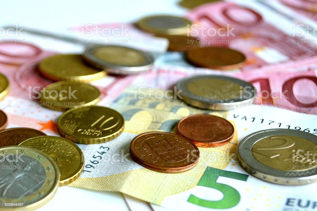 European Union Currency stock photo