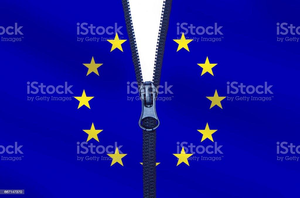European Union Divided stock photo
