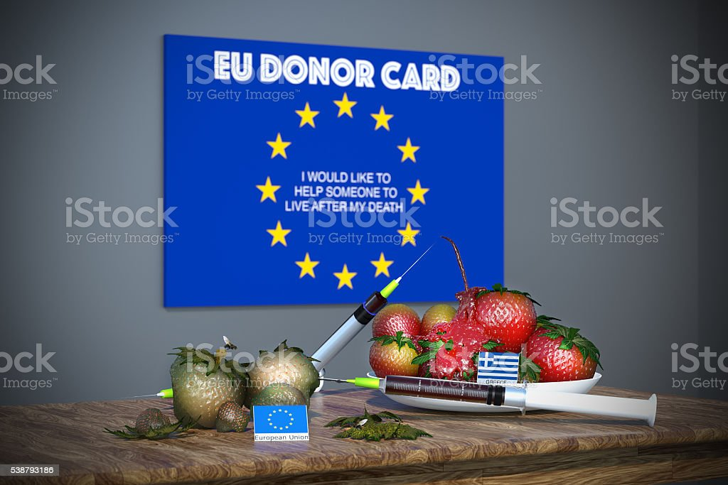 European Union donor card royalty-free stock photo