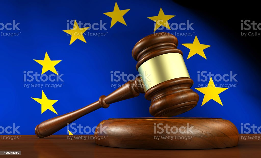 European Union EU Law And Justice stock photo