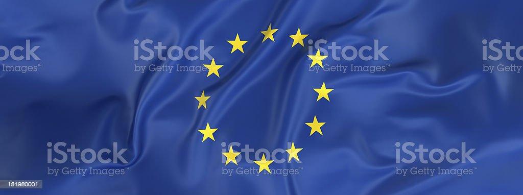 European Union Flag banner royalty-free stock photo