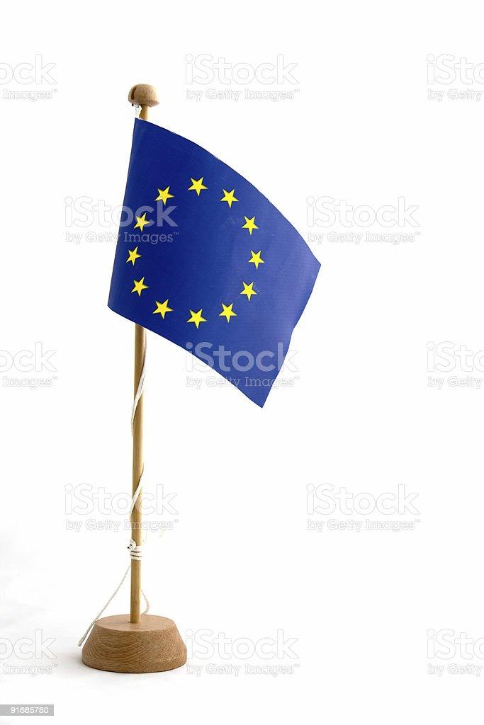 European Union Flag Miniature royalty-free stock photo