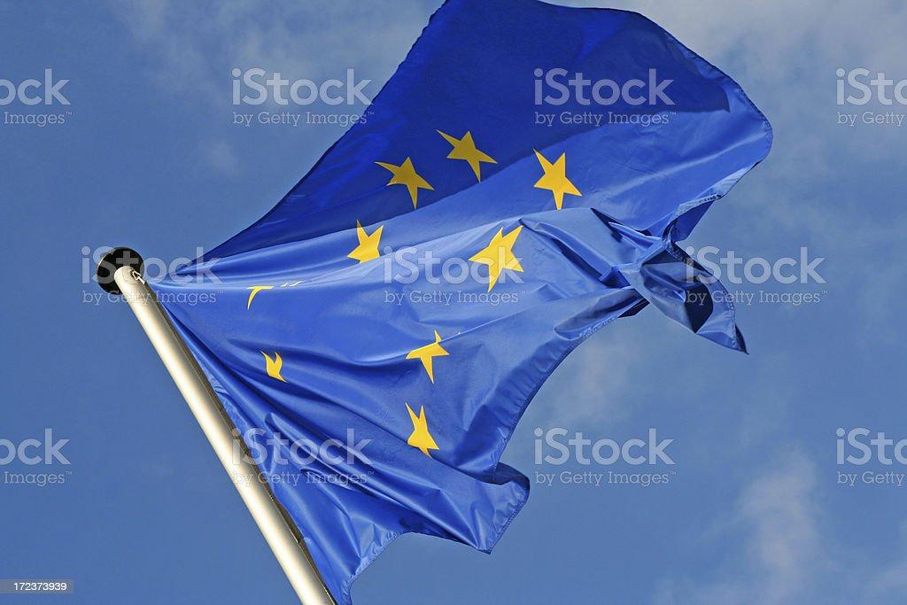 European  Union flag # 1 royalty-free stock photo