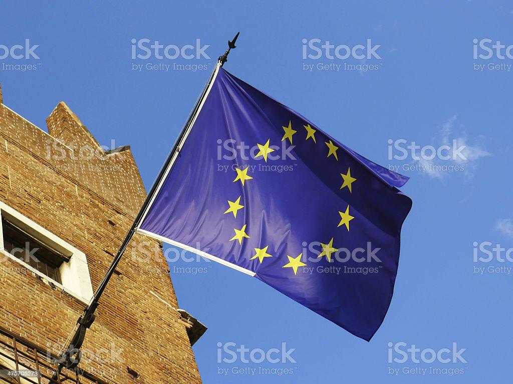 European Union Flag royalty-free stock photo