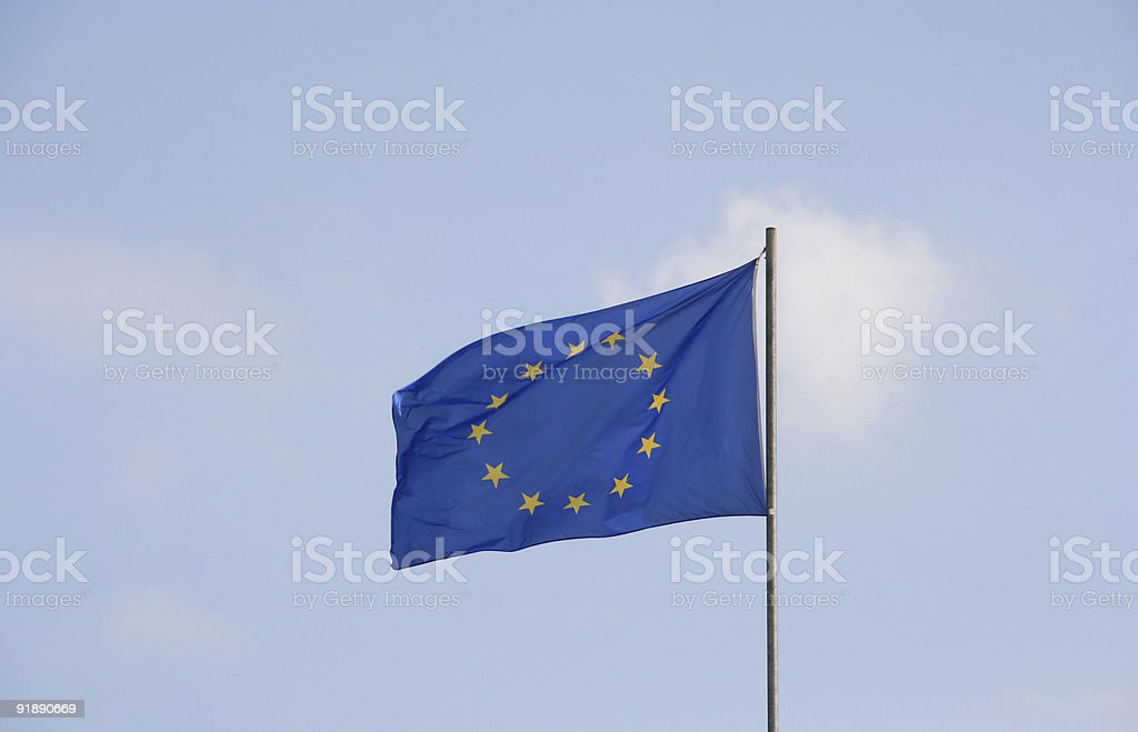 european union flag stock photo