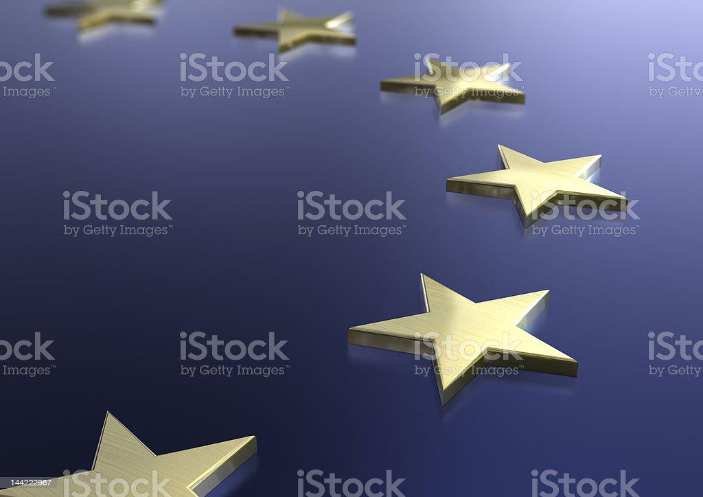 European union flag theme stock photo