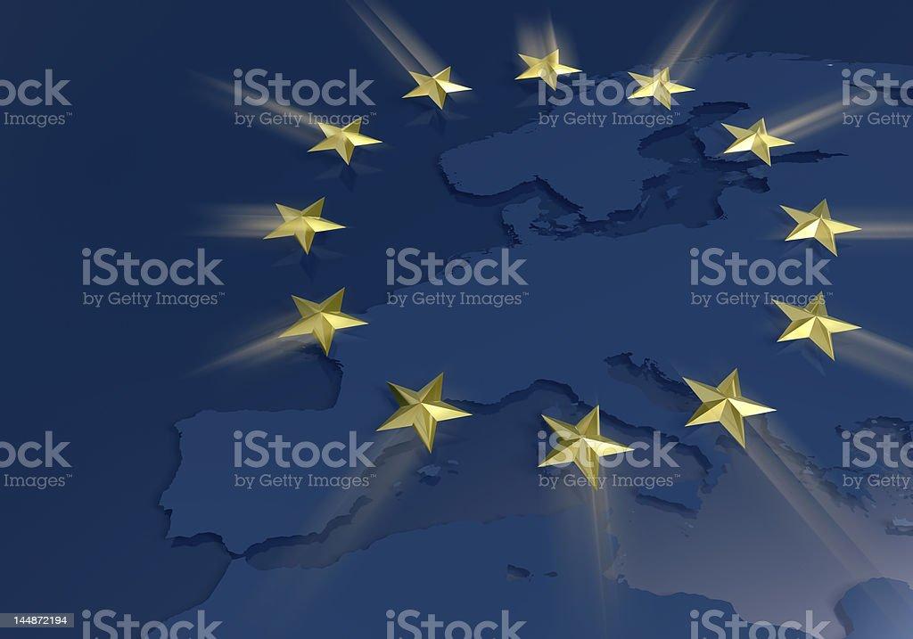 European union golden stars theme royalty-free stock photo