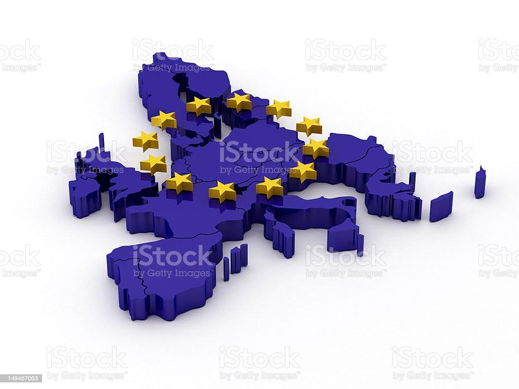 European Union Map royalty-free stock photo