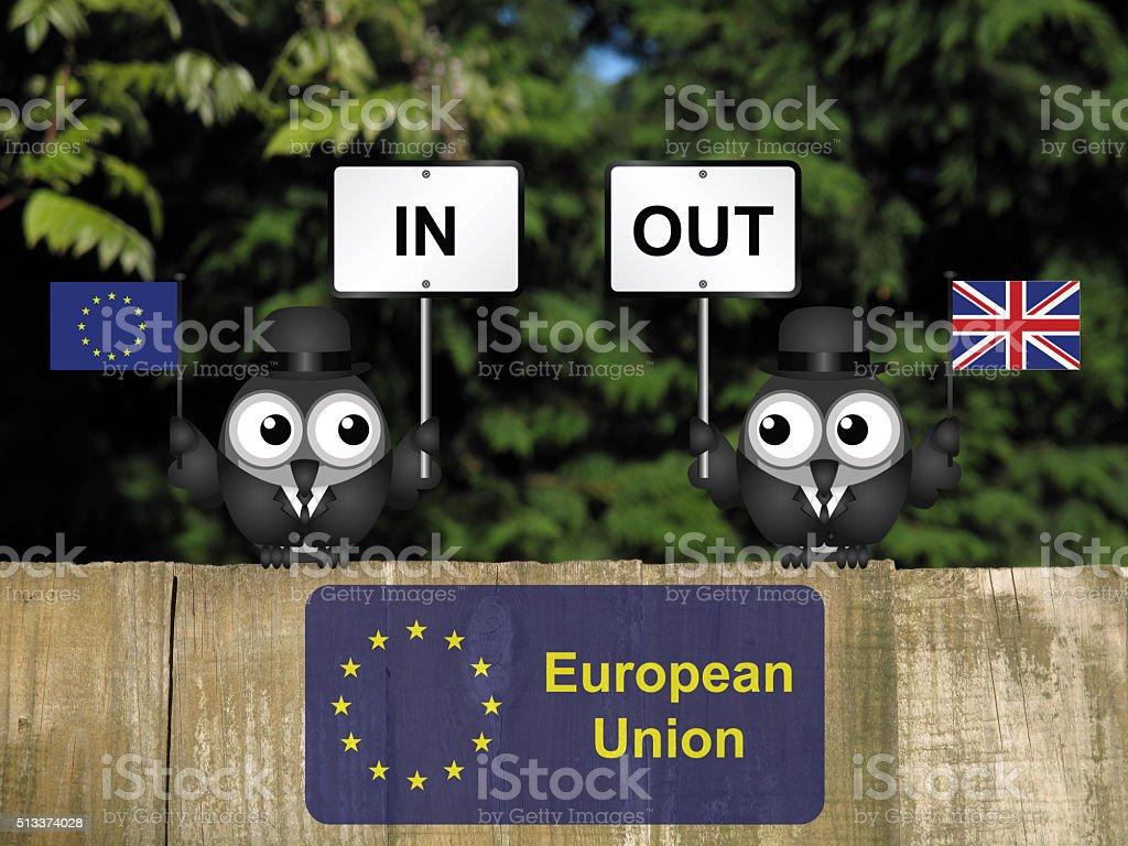 European Union Referendum stock photo