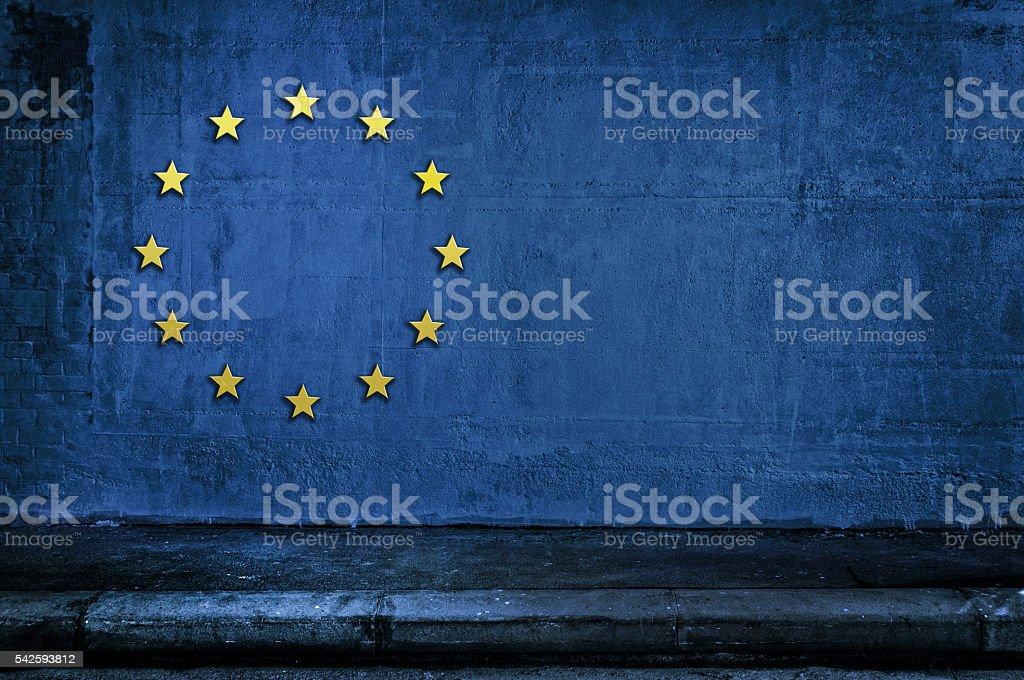 European Union symbol, flag, background stock photo