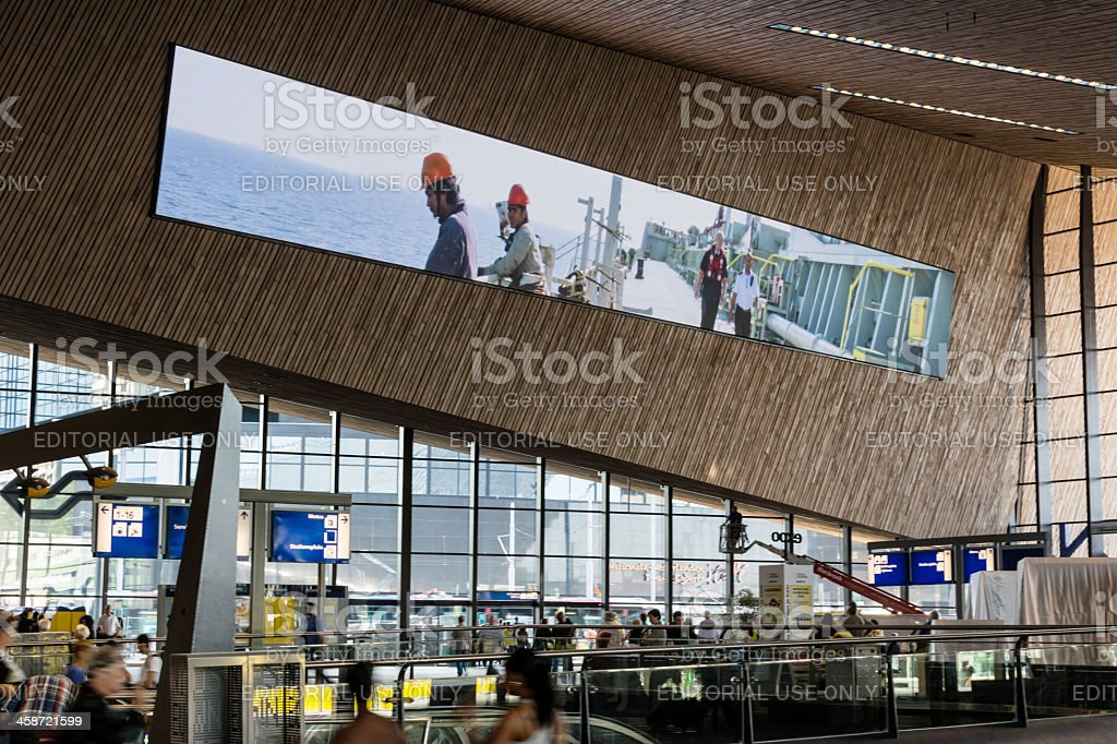 Europe's biggest LCD screen stock photo