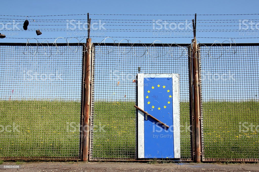 Europe's borders are closed stock photo