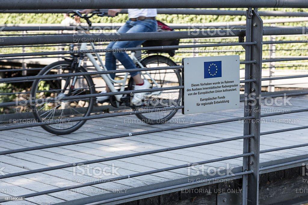 Europ?ischer Radweg stock photo