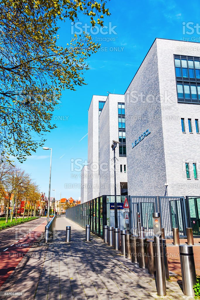 Europol headquarter in The Hague, Netherlands stock photo