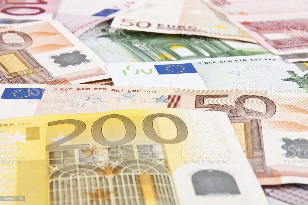 Euros background royalty-free stock photo