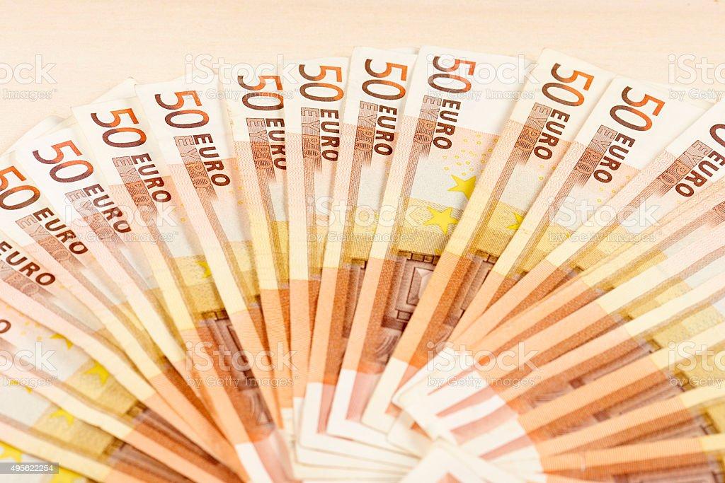 Euros Banknotes stock photo