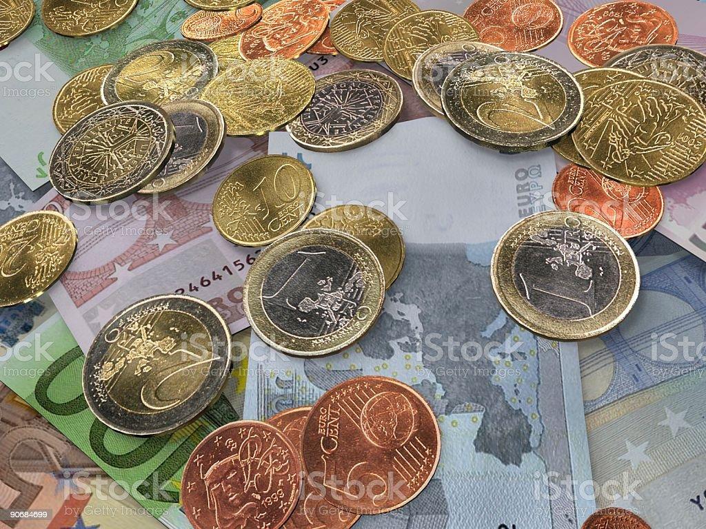 Euros Close-UP royalty-free stock photo