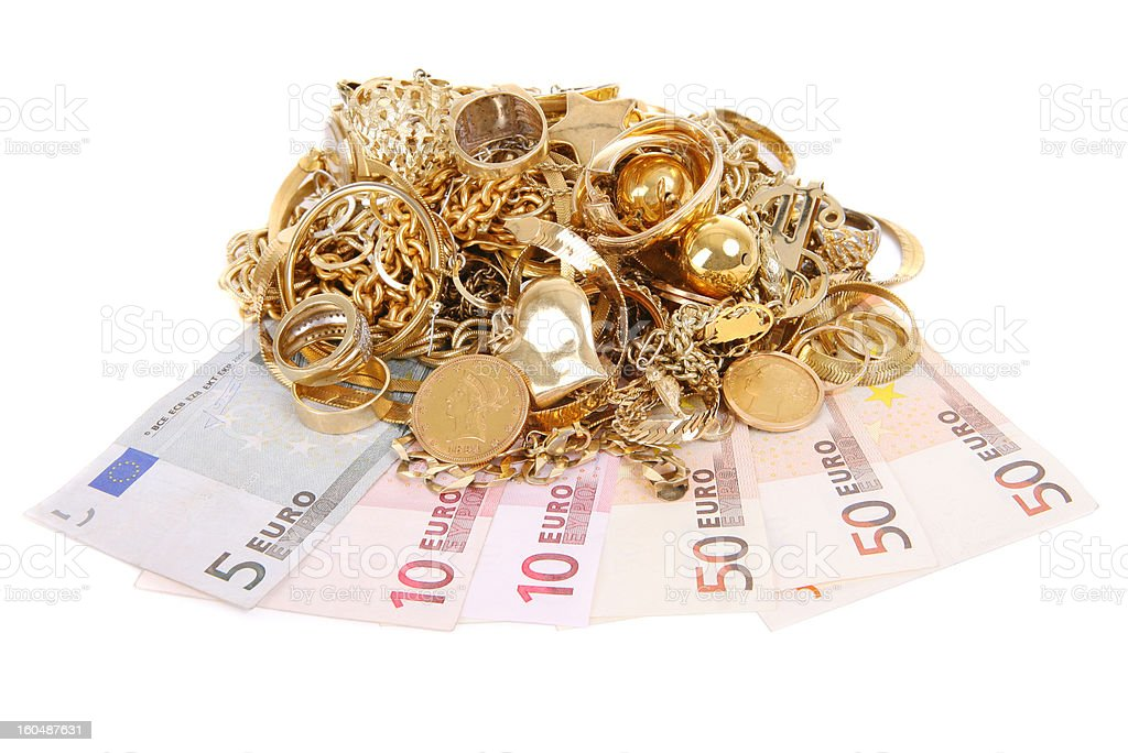 Euros for Gold royalty-free stock photo