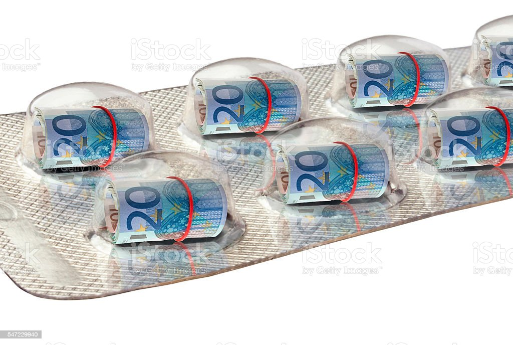 Euros in a  Blister Pack stock photo