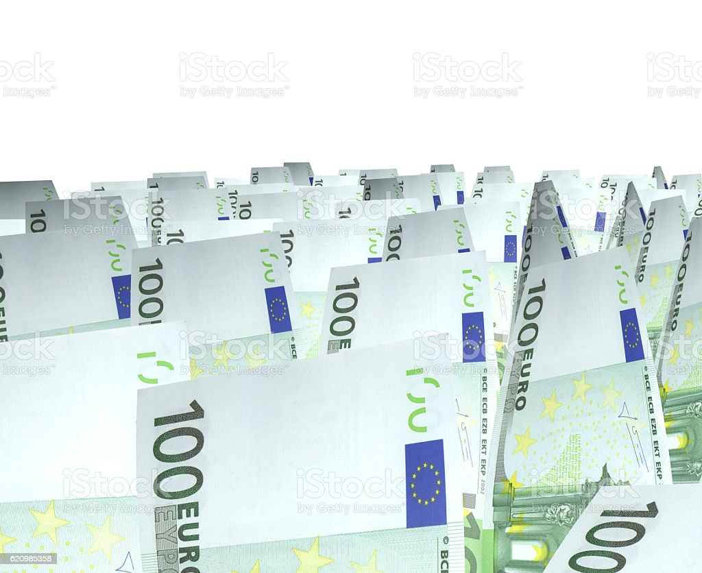 Euros Isolated on white stock photo