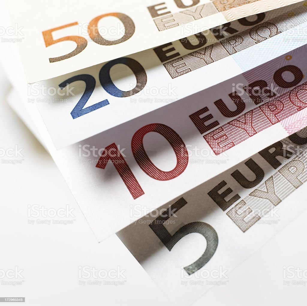 Euros royalty-free stock photo