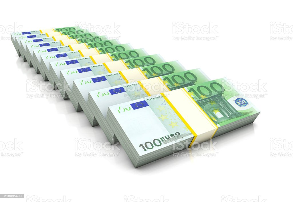 Euros Stack stock photo