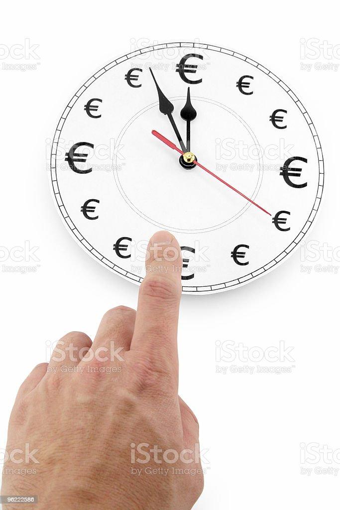 Euros time is money royalty-free stock photo