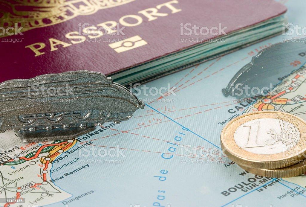Eurostar to Europe stock photo