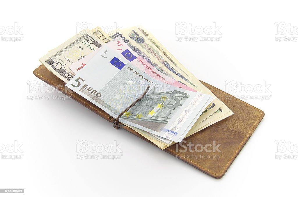 Euro,US Dollars,Japanese Yen stock photo