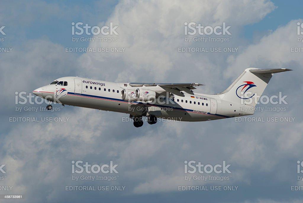 Eurowings airline, British Aerospace BAe-146 stock photo