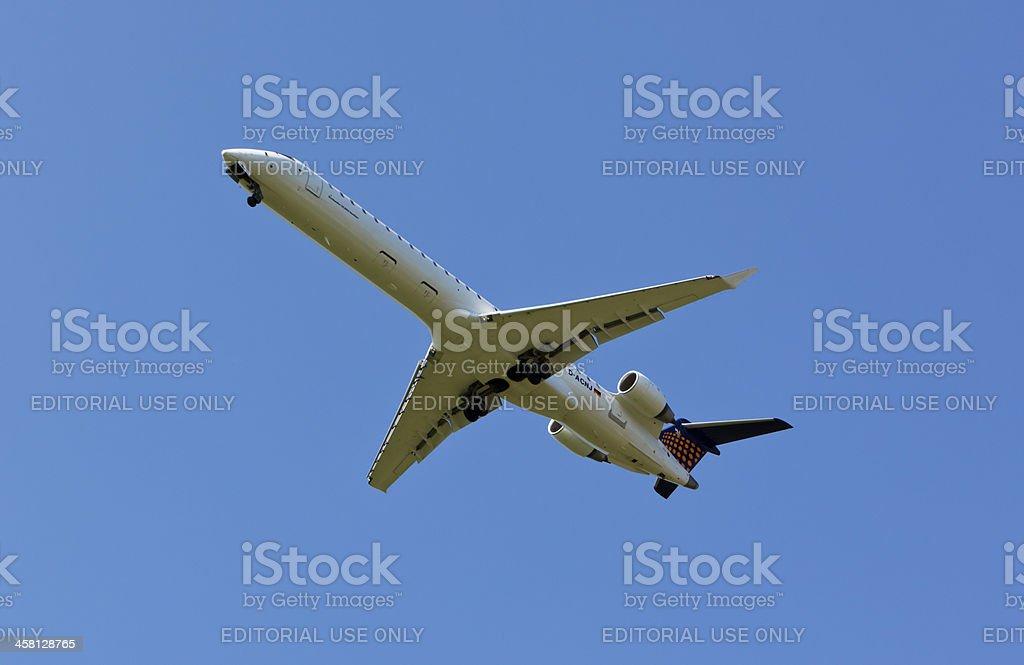 Eurowings airplane landing stock photo