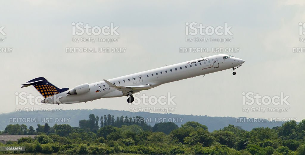 Eurowings Bombardier CJ900 stock photo