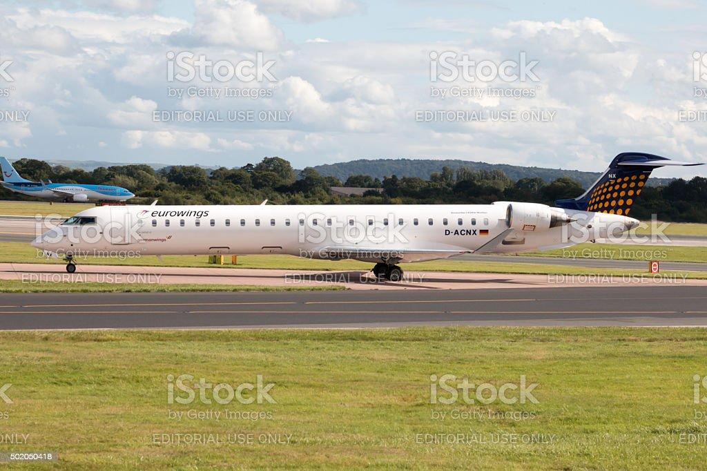 Eurowings Bombardier CRJ900 NextGen stock photo