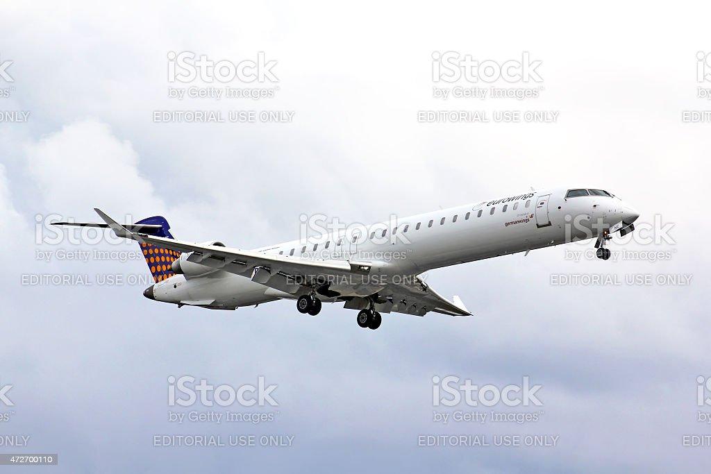 Eurowings Bombardier CRJ-900 NG stock photo