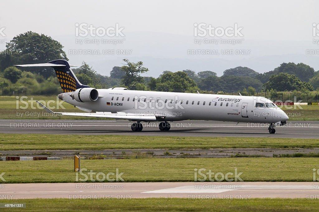 Eurowings Canadair Regional Jet CRJ-900 stock photo