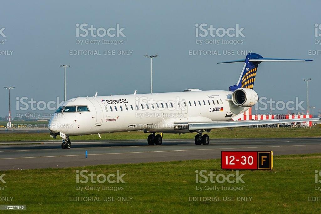 Eurowings Passenger Jet stock photo