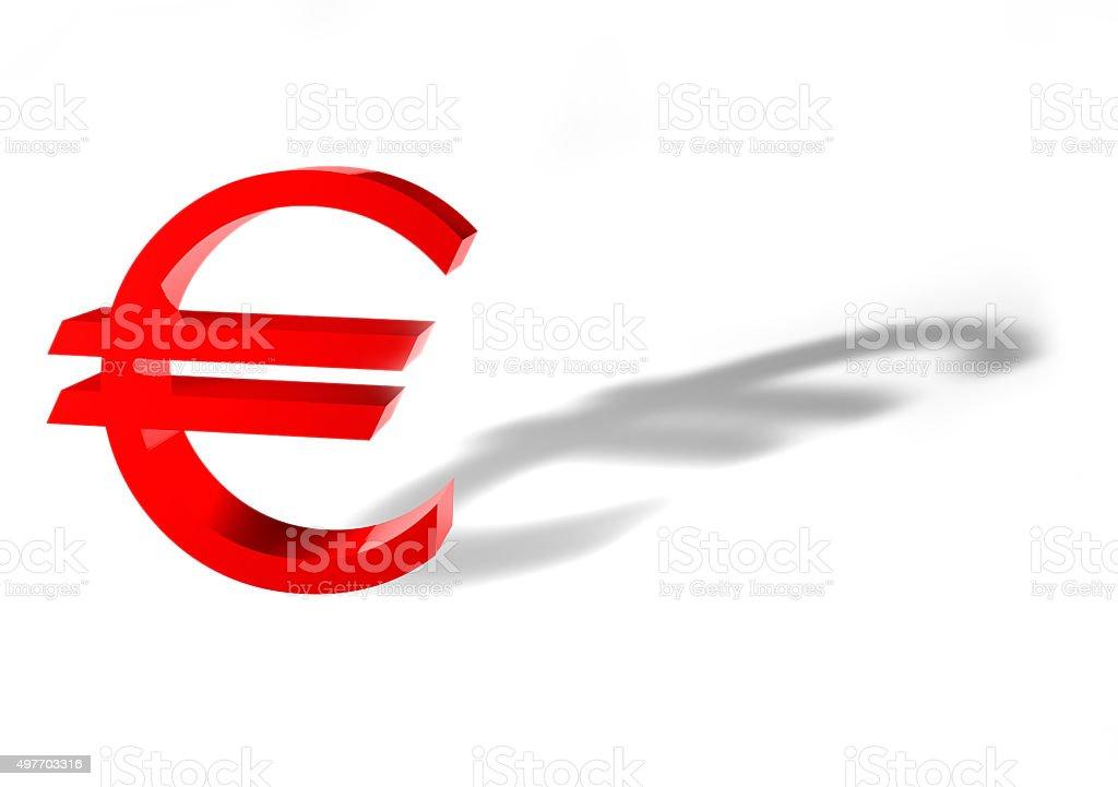 3D Eurozeichen stock photo