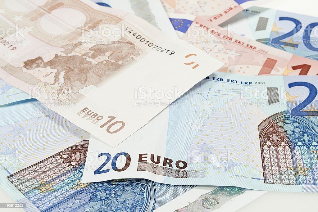 Eurozone currency stock photo