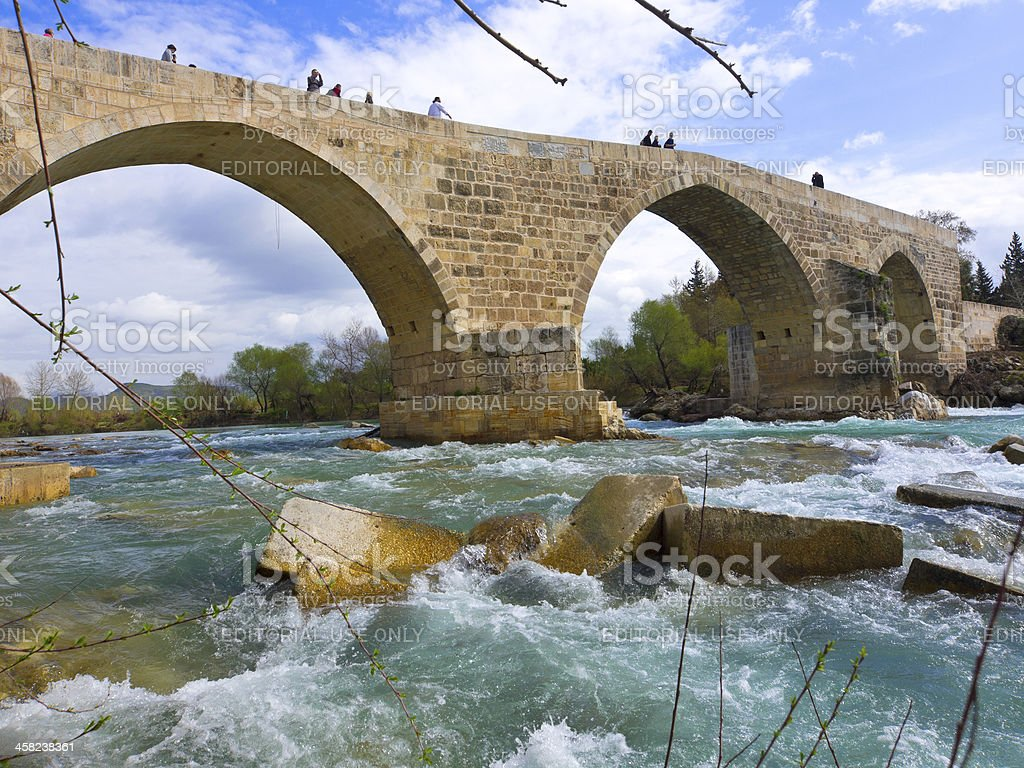 Eurymedon Bridge stock photo